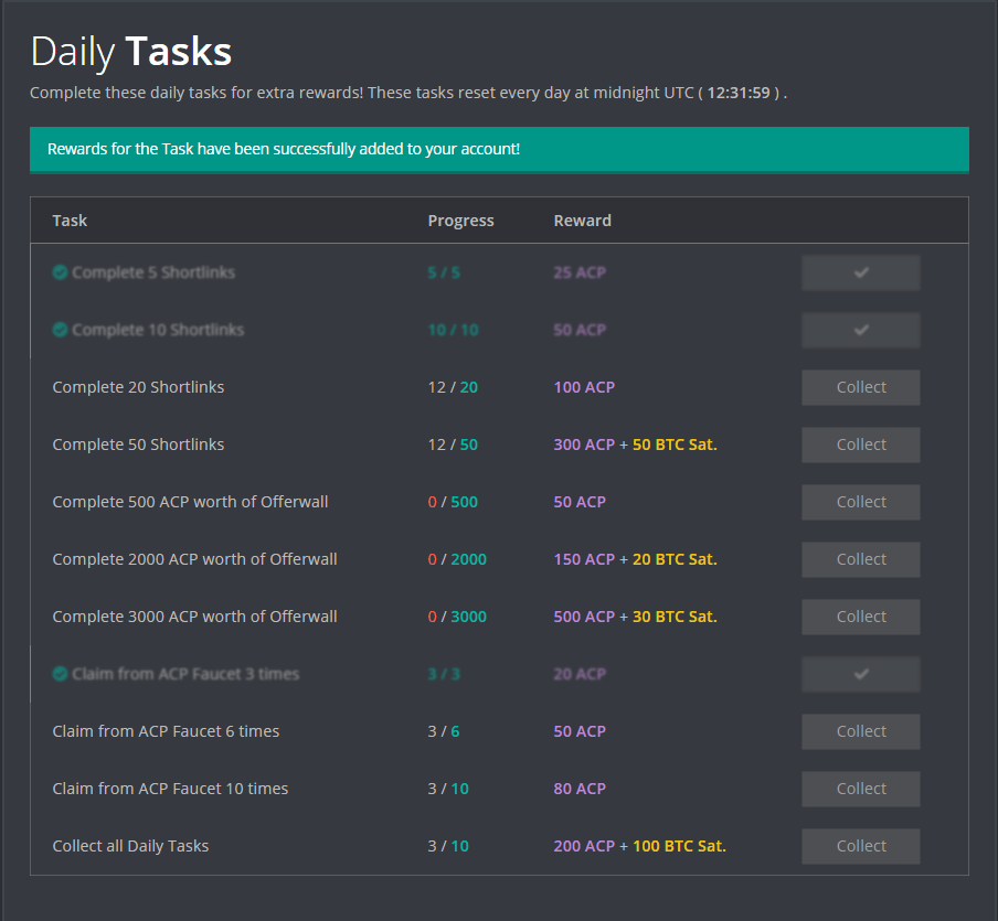 FireFaucet Daily Tasks