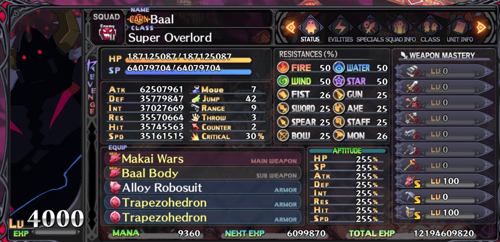 Disgaea 5 Baal Normal