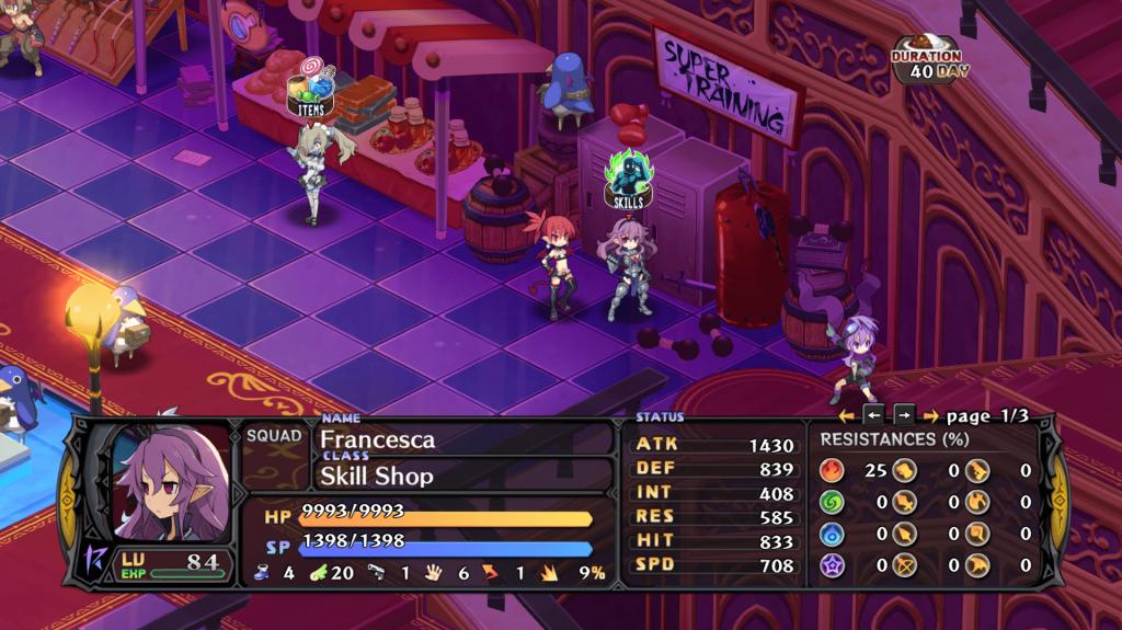 Disgaea 5 Skill Shop